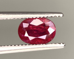IGA Certified 1.15 Carats Natural Ruby Gemstone