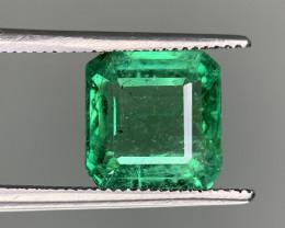 AIG Certified  3.61 Carats  Natural Emerald Gemstone