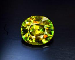 Sphene Titanite, 1.55 CT Natural Full Fire Sphene Titanite Gemstone