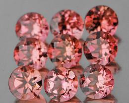 3.00 mm Round 9 pcs 1.05cts Golden Pink Tourmaline [VVS]