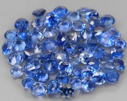 3.62 Ct. /60Pcs Round Diamond Cut 2.0-2.2mm. Natural Blue Sapphire Madagasc