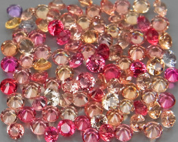 3.39Ct./100Pcs/Round Diamond Cut 1.7 mm.Beautiful Color! Fancy Color Sapphi