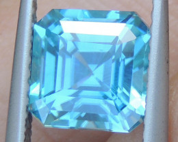 3.56cts Blue Zircon from Cambodia Top Cut