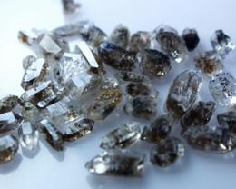 NR!!!! 55.60 CTs Natural - Unheated Herkmir Diamond Quartz Rough Lot