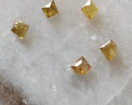 NATURAL YELLOW DIAMOND LOT-1.75CTW-5PCS