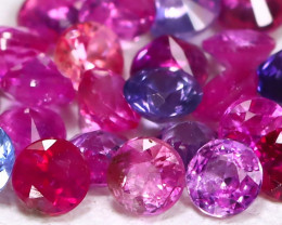1.32Ct Calibrate 2.0mm Round Natural Fancy Pink Sapphire B739