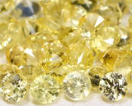 1.68Ct Calibrate 1.7mm Round Natural Ceylon Yellow Sapphire Lot AB744