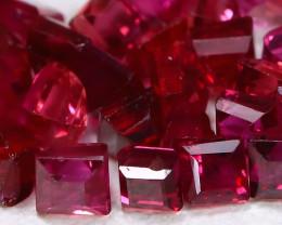 1.69Ct 1.7mm Burmese Ruby 29Pcs Natural Blood Red Ruby Lot B746