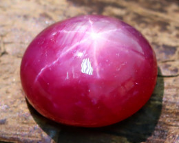 Ruby Star 4.69Ct 6 Rays Pinkish Red Rose Ruby Star AB717