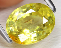 Yellow Sapphire 2.12Ct Oval Cut Yellow Color Sapphire B795