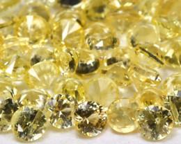 2.02Ct Calibrate 1.7mm Round Natural Ceylon Yellow Sapphire Lot AB792