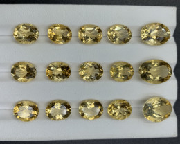 44.04 CT Citrine Gemstones parcel / 15 pc