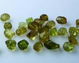 NR!!!! 19.90 CTs Natural - Unheated Green Garnet Rough Lot