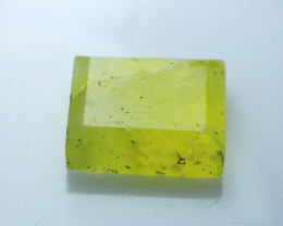 NR!!!! 6.80 CTs Natural - Unheated Yellow Brucite Faceted Stone