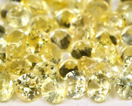 Yellow Sapphire 1.92Ct Calibrate 1.7mm Natural Yellow Sapphire Lot AB816