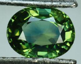 1.96 Cts Natural Corundum Green Sapphire Sri Lanka Heated Gem