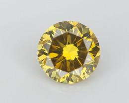 0.27 cts  , Fancy Colored Diamond , Round Brilliant Cut