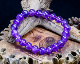98.65Ct Natural Amethyst Beads Bracelet B848