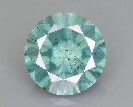 Certified Diamond 1.47 ct Ambient Aqua Color Tone  SKU-25