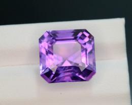 Rich Purple 9.60 Ct Natural Ascher Cut Amethyst ~ Nigeria