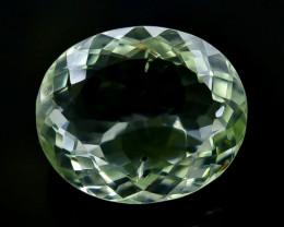 22.86 Crt Natural Green Prasiolite Amethyst Faceted Gemstone.( AB 41)