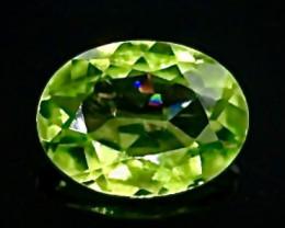 1.15 Crt Natural Peridot Faceted Gemstone.( AB 41)