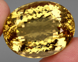 81.83 Ct. 100% Natural Top Yellow Golden Citrine Unheated Brazil Big!