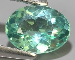 1.00 CTS EXQUISITE GREEN COLOR UNHEATED APATITE~OVAL EXCELLENT!