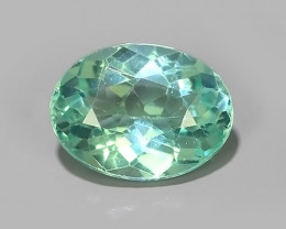 1.10 CTS EXQUISITE GREEN COLOR UNHEATED APATITE~OVAL EXCELLENT!