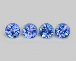 1.65 Cts 4 Pcs Amazing rare Violet Blue Color Natural Tanzanite Gemstone