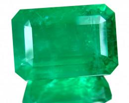 Zambia Emerald 12.5 Cts Green Antique Step Cut BGC598
