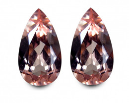 Brazilian Morganite Match Pair 6.20 Cts Peach Pink  BGC594
