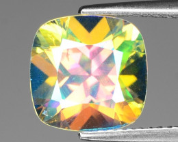 5.38 Cts Rare Fancy White Rainbow Color Natural Azotic Topaz