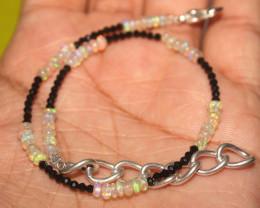 9 Crts Natural Ethiopian Welo Opal & Spinal Bracelet
