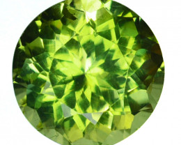 ~STUNNING~ 3.94 Cts Natural Green Apatite Stunning Round Cut Brazil