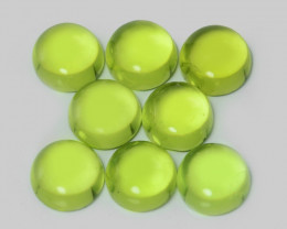 5.54 Cts 8 Pcs Green Color Natural Peridot Gemstone
