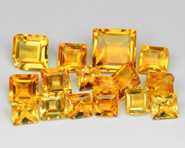 5.16 Cts 16 Pcs Fancy Golden Yellow Color Natural Citrine Gemstone