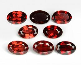 4.16 Cts 8 Pcs Unheated Natural Cherry Pinkish Red Rhodolite Garnet Gemston