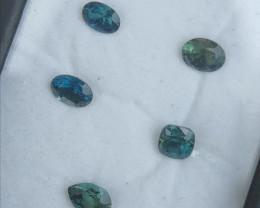 3.75ct parcel of untreated multicolour sapphires