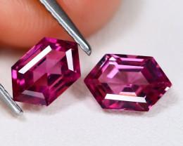 Umbalite 1.93Ct 2Pcs Hexagon Cut Natural Umbalite Garnet AB954