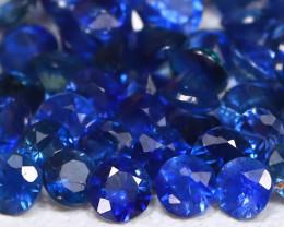 1.94Ct Calibrate 1.8mm Natural Vivid Blue Sapphire Round Lot B997