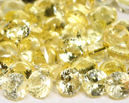 1.67Ct Calibrate 1.7mm Round Natural Ceylon Yellow Sapphire Lot AB931