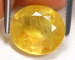 Yellow Sapphire 2.94Ct Oval Cut Yellow Color Sapphire B987