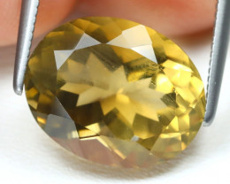Scapolite 5.40Ct VS2 Oval Cut Natural Yellow Golden Scapolite B938