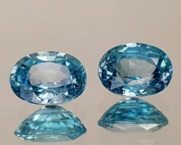 2.38Crt Blue Zircon Natural Gemstones JI23
