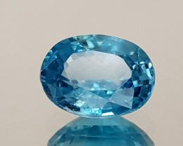 1.78Crt Blue Zircon Natural Gemstones JI23