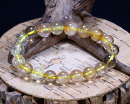 100.25Ct Natural Rutile Quartz Beads Bracelet B1045