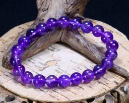 98.20Ct Natural Amethyst Beads Bracelet B1050
