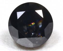 0.47Ct Round Brilliant Cut Natural Black Diamond B862