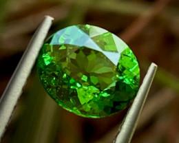 1.26 ct  ViVid green Tsaverite Garnet  With Fine Cutting Gemstone